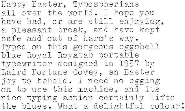 oz.Typewriter: Easter Egg-shell Blues: The Joys of