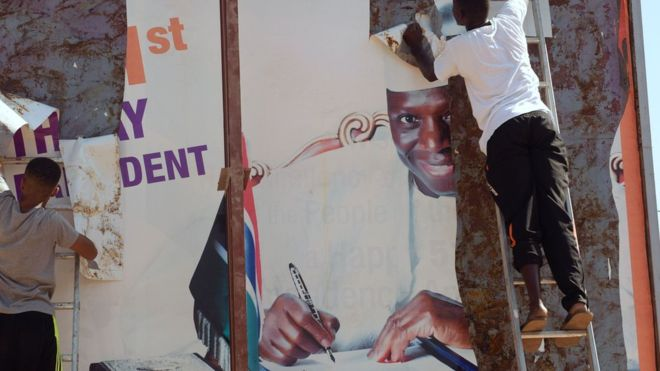Gambia's President Jammeh vows 'to stay till election ruling'