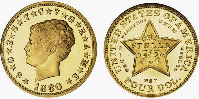 Stella United States coins four dollar gold coin