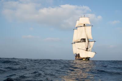 L'Hermione en route pour Sète et ses fetes maritimes