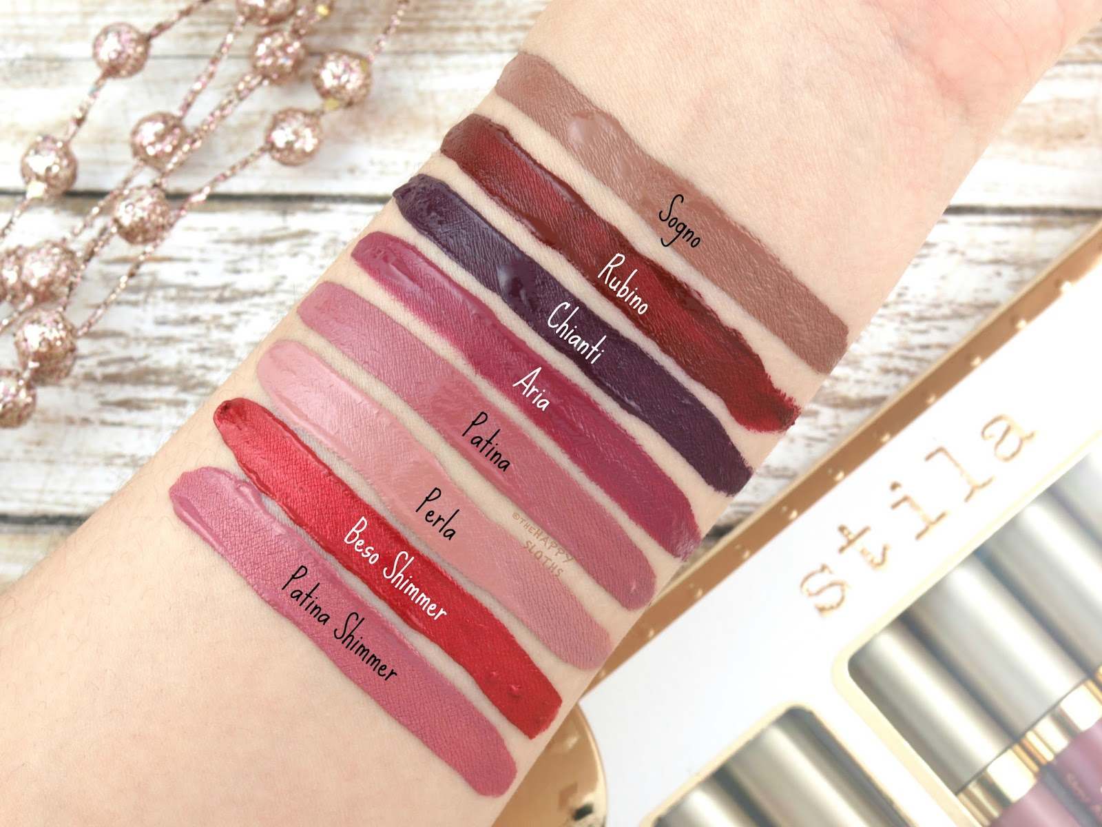 Stila Holiday 2017 | Star-Studded Eight Stay All Day Liquid Lipstick Set: Review and Swatches