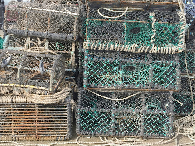 fish nets at Scarborough harbour