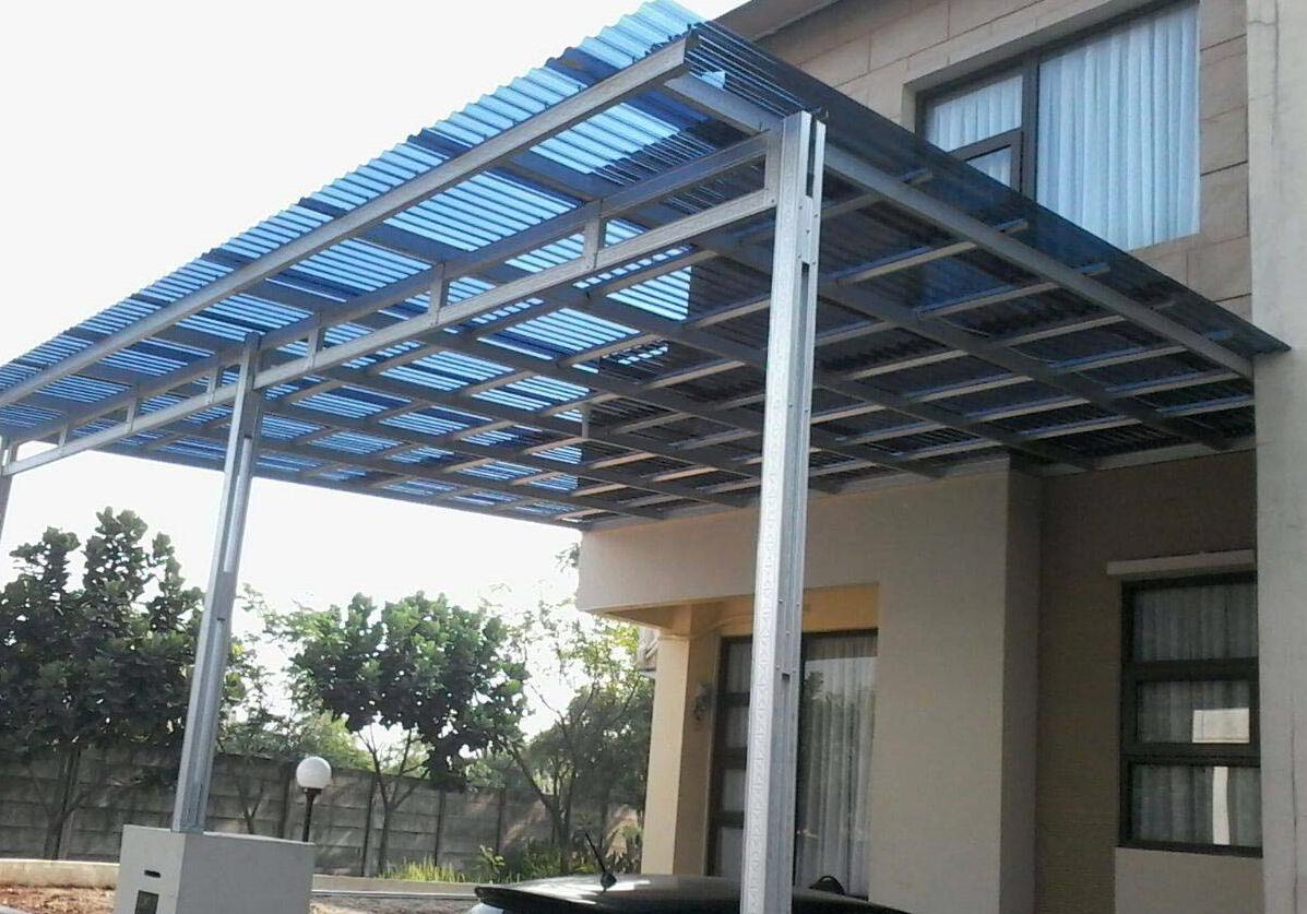 harga pasang atap baja ringan di bandung gambar rangka kanopi | dekorhom