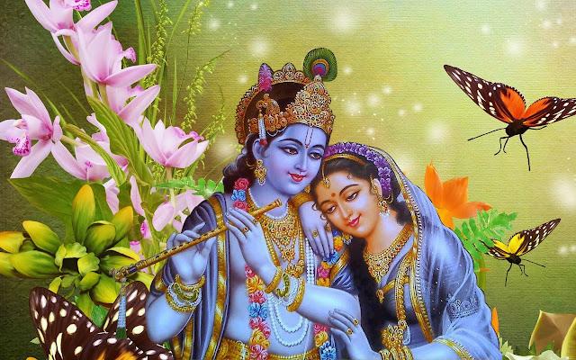Best God Krishna With Radha Romantic  Wallpaper