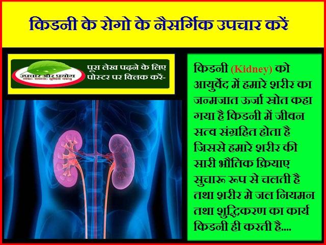 किडनी के रोगो के नैसर्गिक उपचार करें
