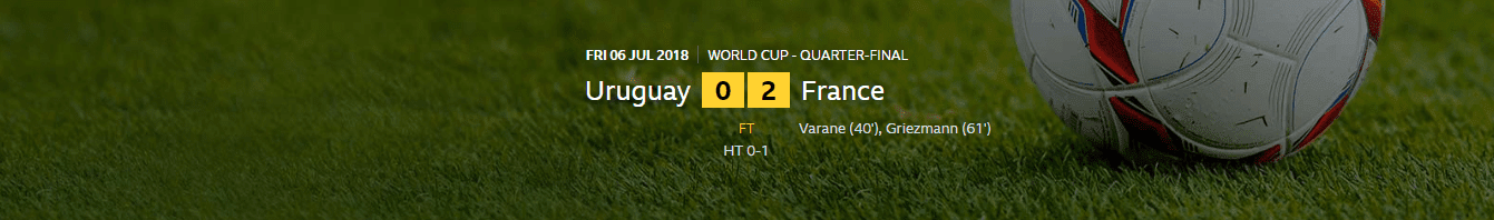FIFA World Cup 2018: Uruguay 0-2 France | France Are Into The Semi-Finals OF The World Cup For The First Time Since 2006