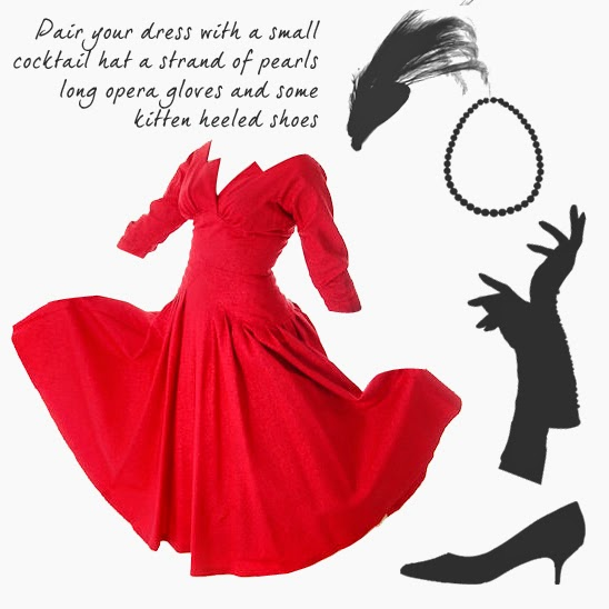 http://www.thebestvintageclothing.com/vintage-party-dress-red-faille-super-fitted-waist-full-skirt-1940s-small/
