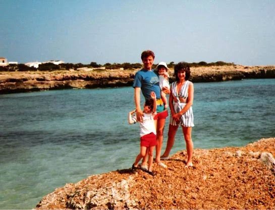Menorca family holiday in 1988