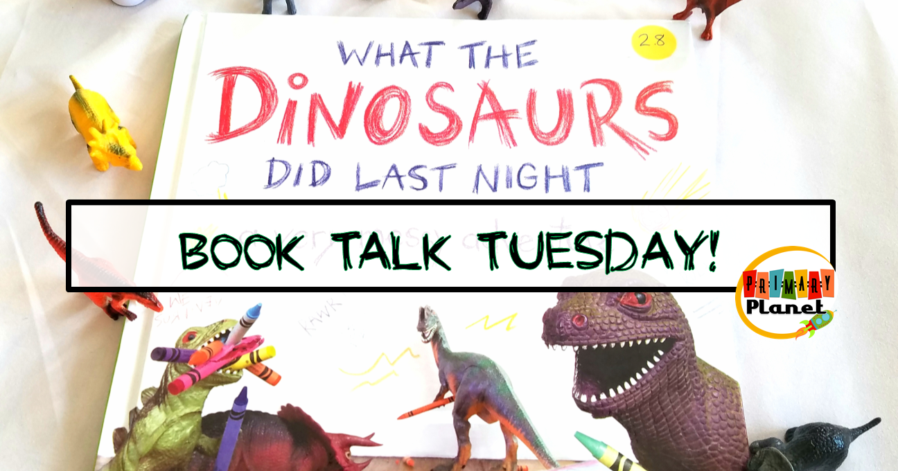 What the Dinosaurs Did Last Night with a Creative Writing Freebie!