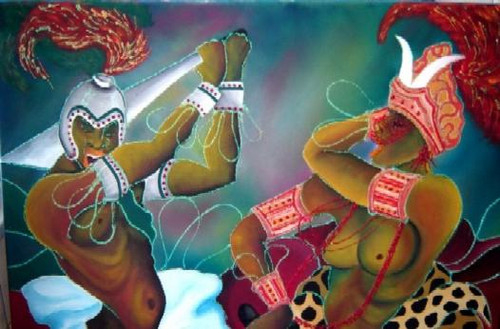 Batuque do Rio Grande Sul Lendas dos Orixás Obá Ogum Orixás Religião Afro  - A batalha de Obá e Ogum