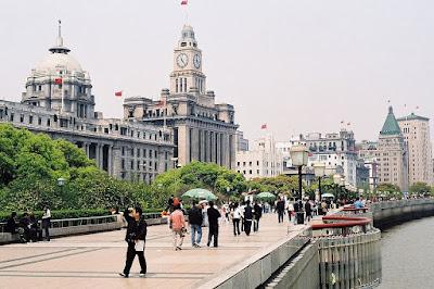 banco de shanghai y antigua aduana bund