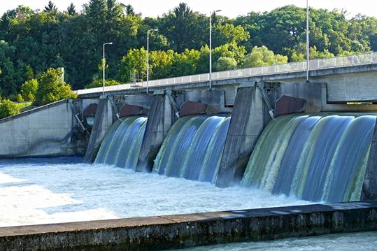 Barrage, Waterfall, Isar, Water, River