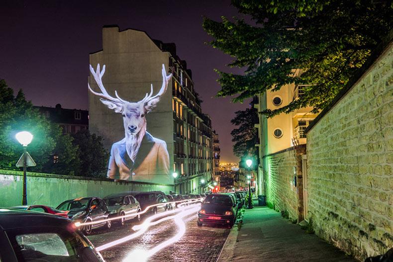 Proyecciones Safari Urbain de Julien Nonnon