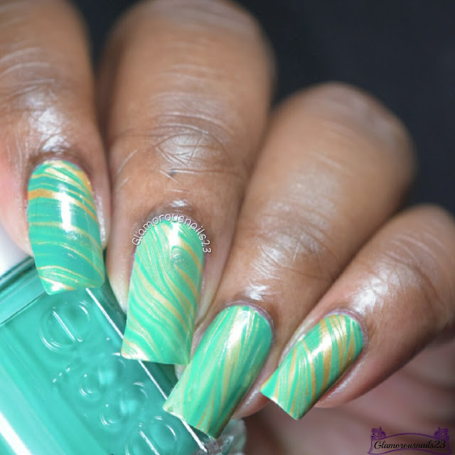 Watermarble Wednesdays: Green & Gold