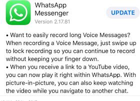 whatsapp update for iO5