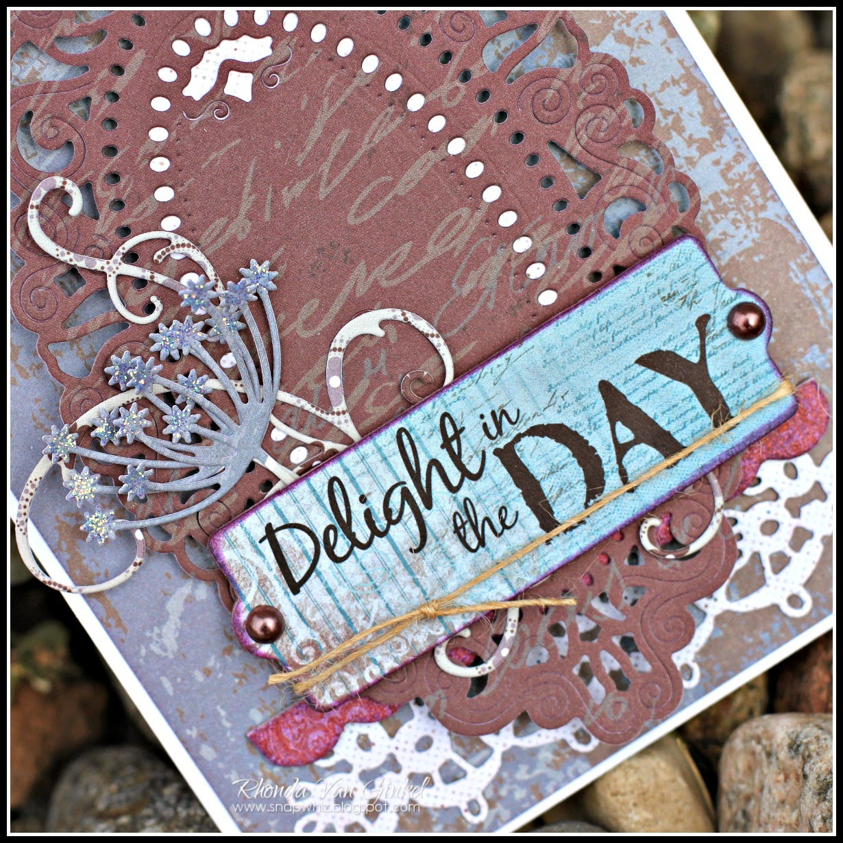 Delight in the Day, Card for Quick Quotes featuring Alton Collection and PowderPuff Chalk Inks by Rhonda Van Ginkel