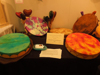 "Elk Hide Drums by Nanci Carter,  ""Handcrafted for the Holidays"" at Studios on the Park, Paso Robles, © B. Radisavljevic"