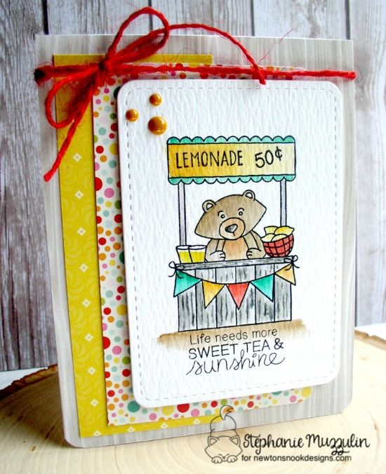 Lemonade Stand Card by Stephanie Muzzulin | Freshly Squeezed Stamp set by Newton's Nook Designs #newtonsnook