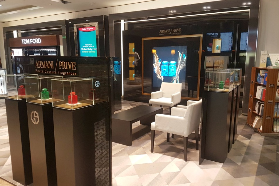 Emirates First Class Lounge in Dubai airport is filled with luxury boutiques