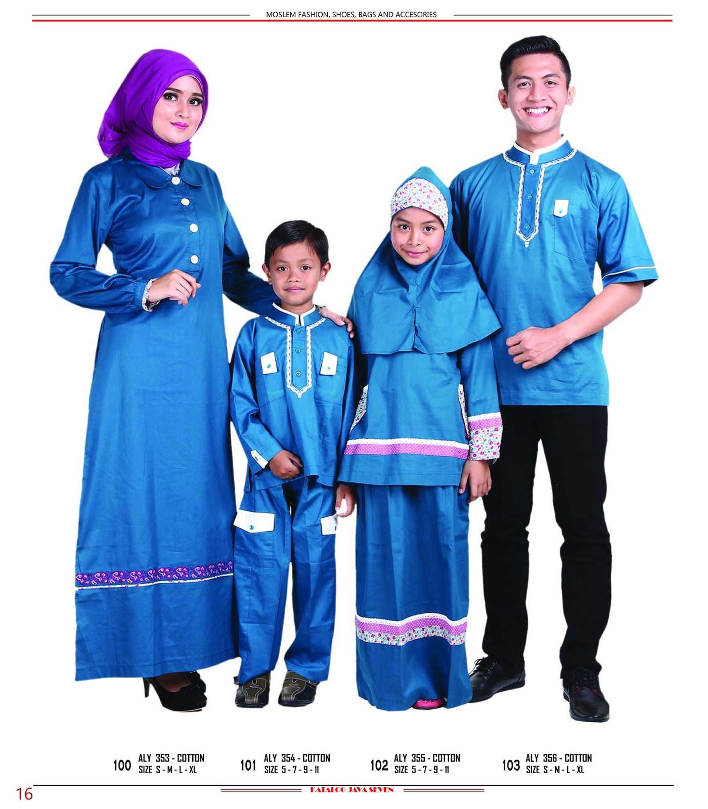 Katalog Java Seven 2015 2016 098 Baju Couple Keluarga Muslim
