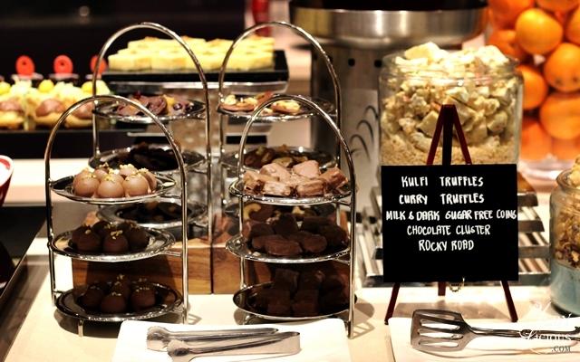 Kulfi, Curry Truffles, Indian Food Buffet at HYATT COD Manila