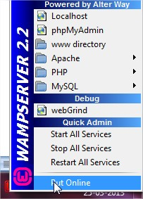 Put Online WampServer