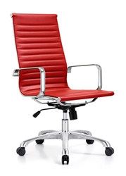 Ribbed Back Boardroom Chair