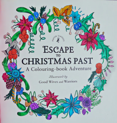 Escape to Christmas past adult coloring book
