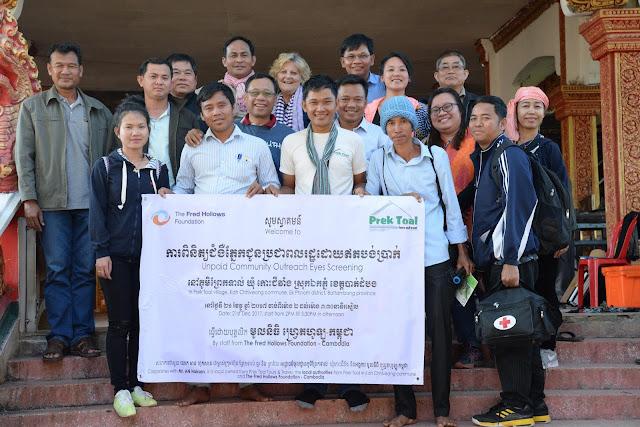 Successfully of Eyes Screening in Prek Toal village