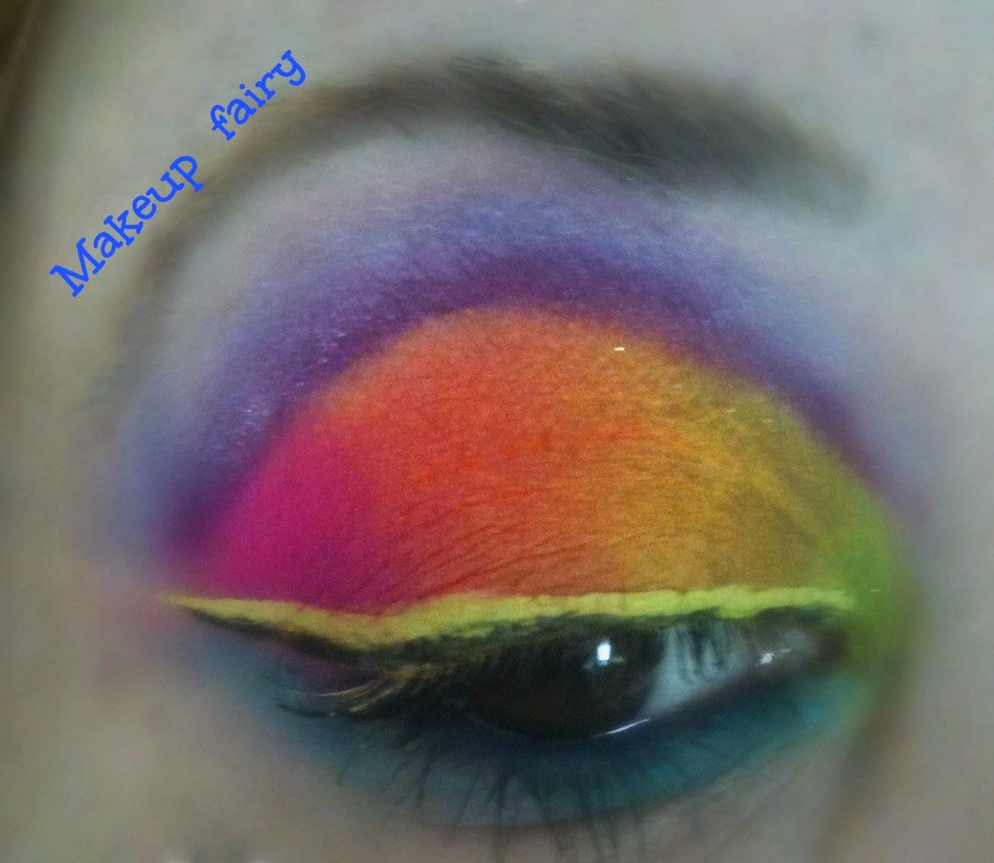 I ♥ rainbow! cut crease makeup look