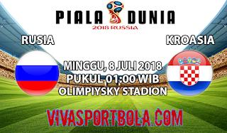 Prediksi Bola Rusia vs Kroasia 8 Juli 2018