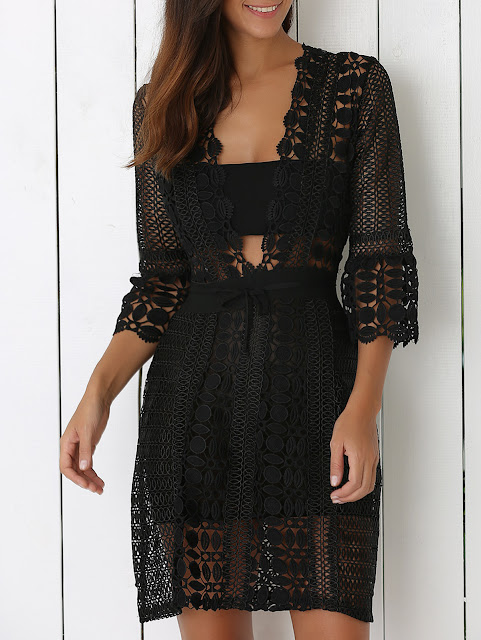 abiti in pizzo tendenza pizzo lace dresses mariafelicia magno fashion blogger colorblock by felym shopping on line zaful