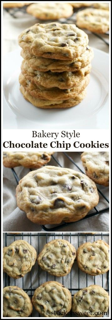 BAKERY STYLE CHOCOLATE CHIP COOKIES #bakerystyle #chocolate #chip #cookies #cookierecipes #chocolatechip