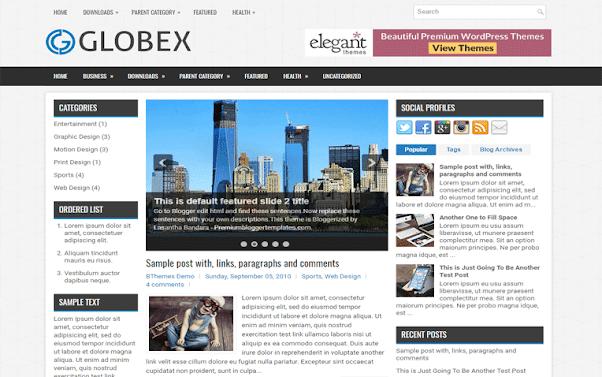 Globex Free Blogger Template
