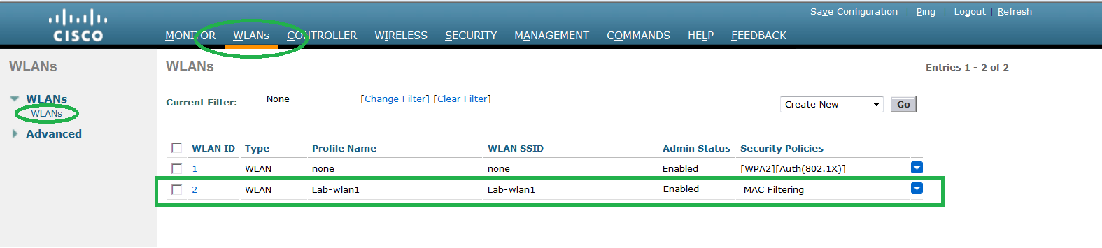 Networklearner: Configure SSID with Mac filtering Cisco WLC