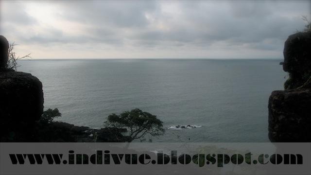 Näkymä Cabo De Rama Fort -linnakkeesta Intian Goassa
