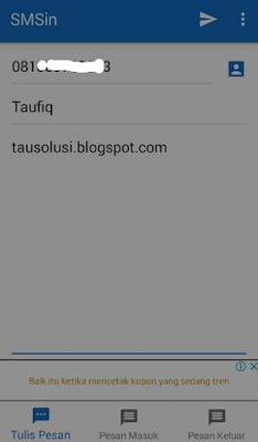 Tutorial Kirim SMS Gratis Tanpa Pulsa ke Semua Operator 4