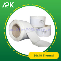 stiker label barcode thermal 50x40mm
