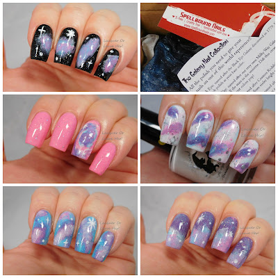Galaxy nails with Spellbound Nails Galaxy Nails collection