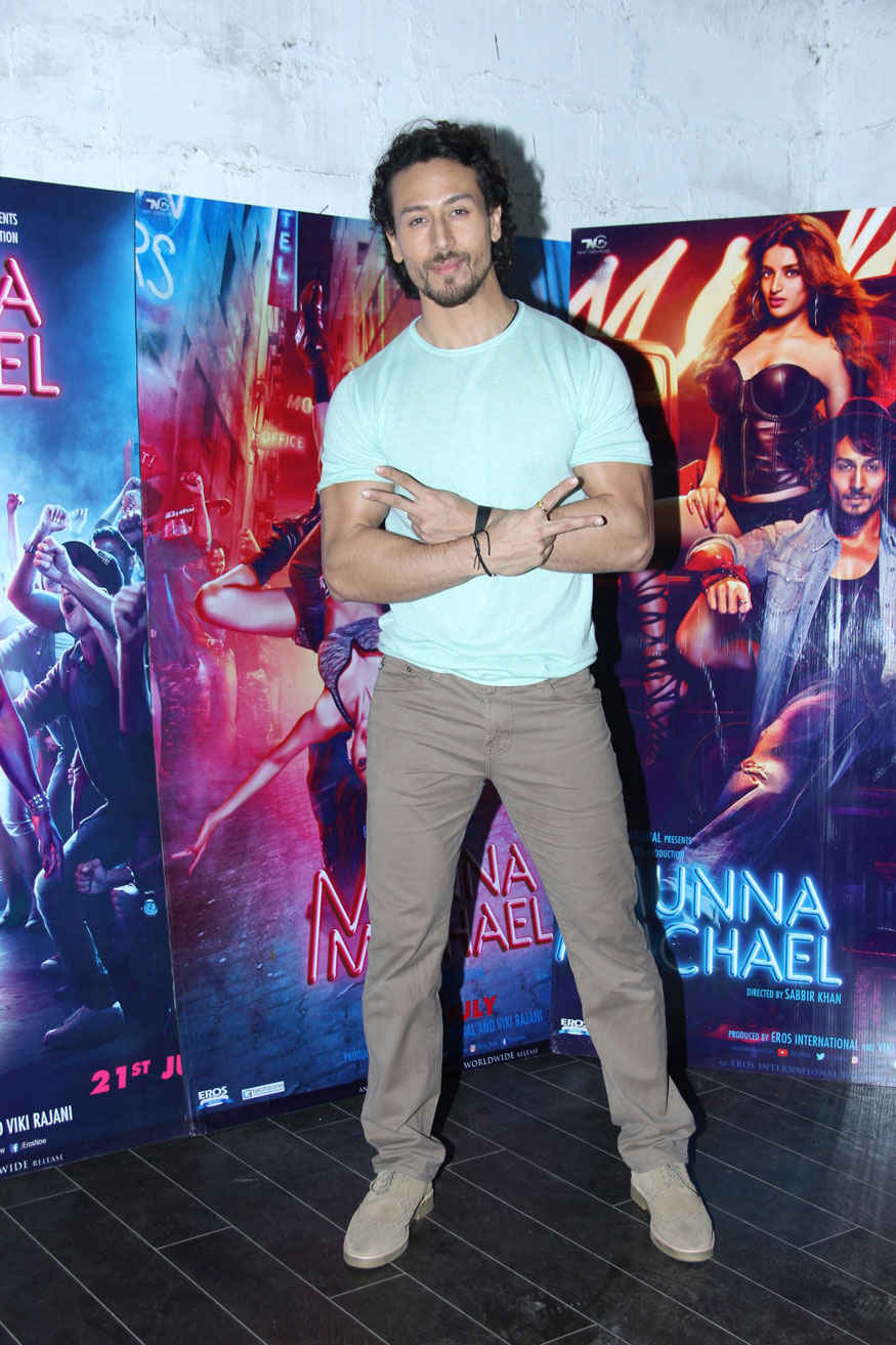 Nidhhi Agerwal and Tiger Shroff at Eros Office In Andheri West
