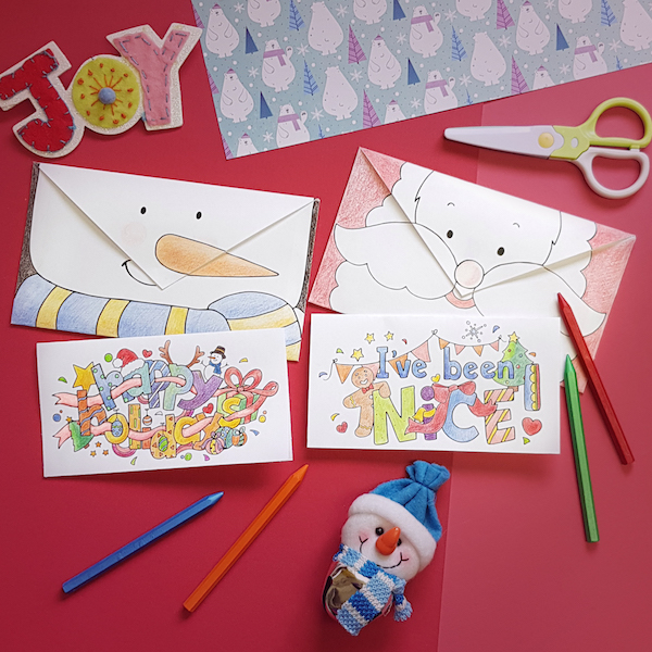 Christmas And Holiday Cards Free Printable Coloring Cards