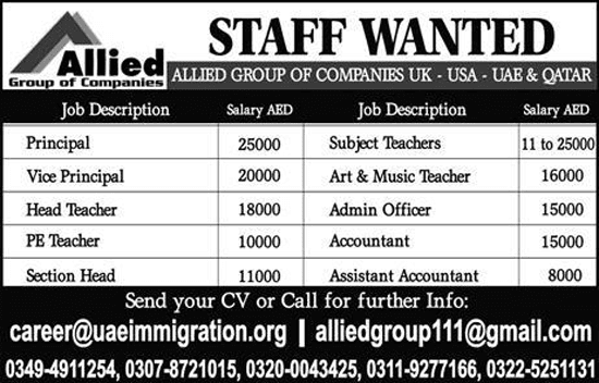 Jobs In Allied Group Of Companies
