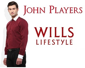 John Players and Wills Lifestyles Men's clothing – Minimum 60% Off @ Snapdeal