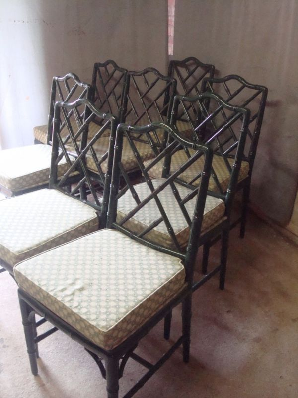 Bargain Hunt Faux Bamboo Dining Chairs Swoon Worthy
