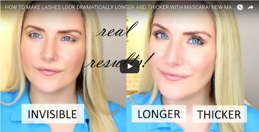 HOW TO MAKE LASHES LOOK DRAMATICALLY LONGER AND THICKER WITH MASCARA