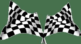 Bandeiras quadriculadas para corrida de carros