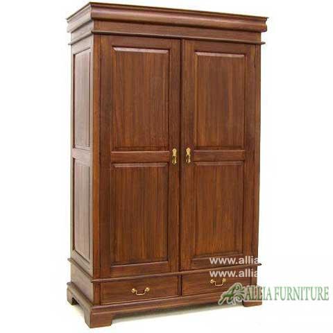 lemari pakaian klasik 2 pintu lauren