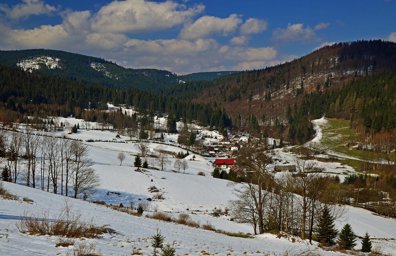 KGP Sudety - Szlak na Kowadło Widok na Bielice