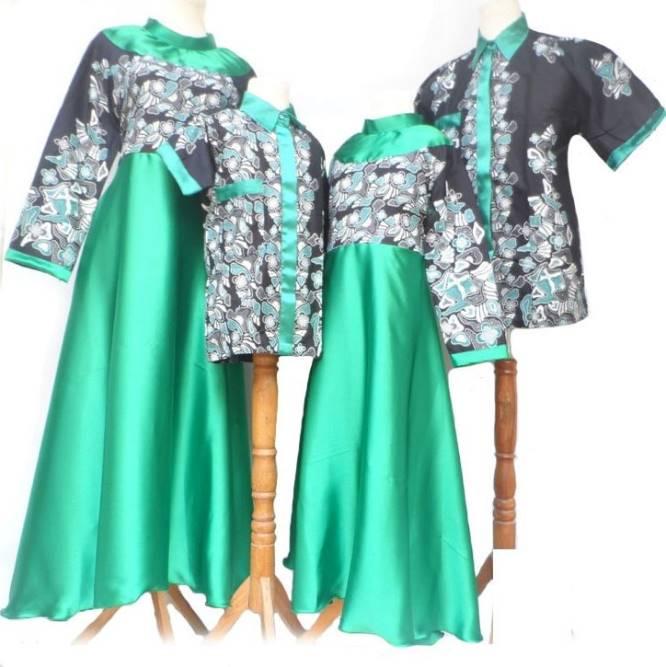 10 Model Baju Batik Sarimbit Modern Terbaru 2018: 10 Model Baju Batik Muslim Sarimbit Keluarga Terbaru 2018