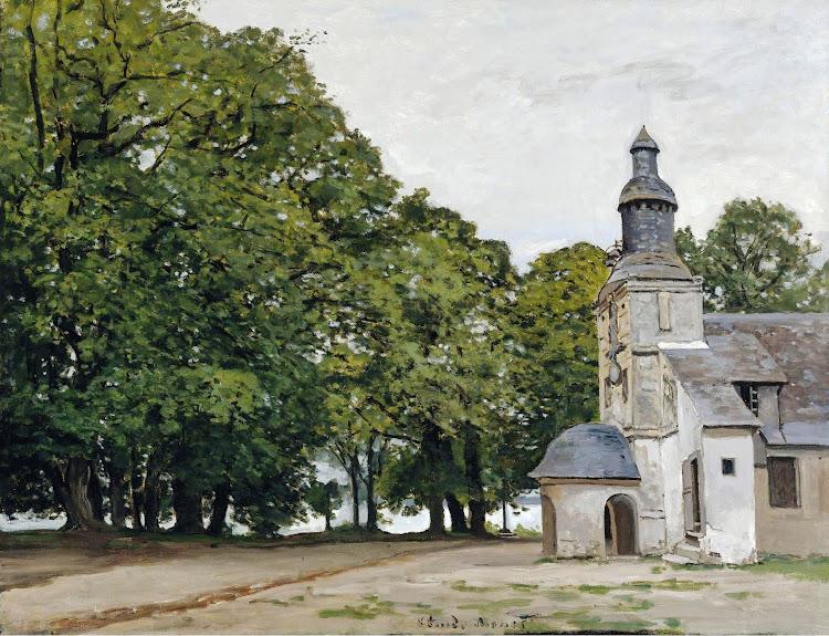 Claude Monet - The Chapel of Notre Dame de Grace Honfleur 1864